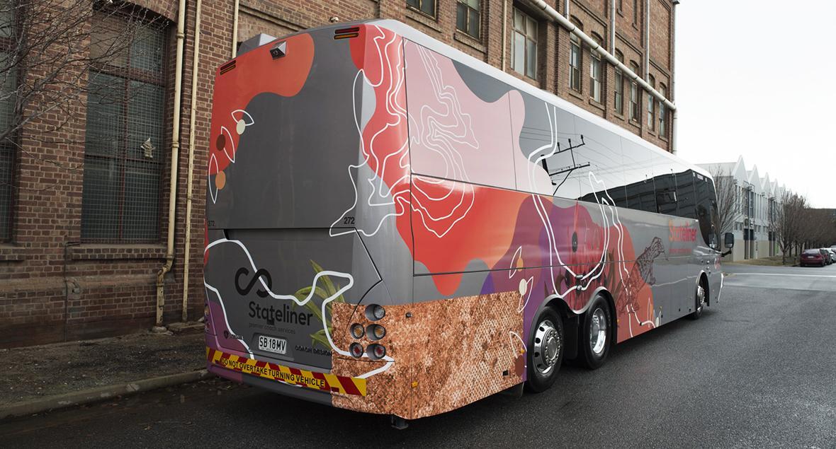 Stateliner Premier Coach Services, Bus Graphics Design, Black Squid Design