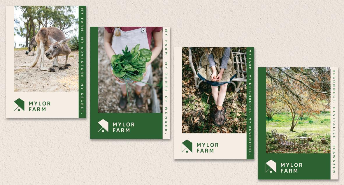 Mylor Farm, Logo Design, Branding, Website, Social Media Design, Black Squid Design