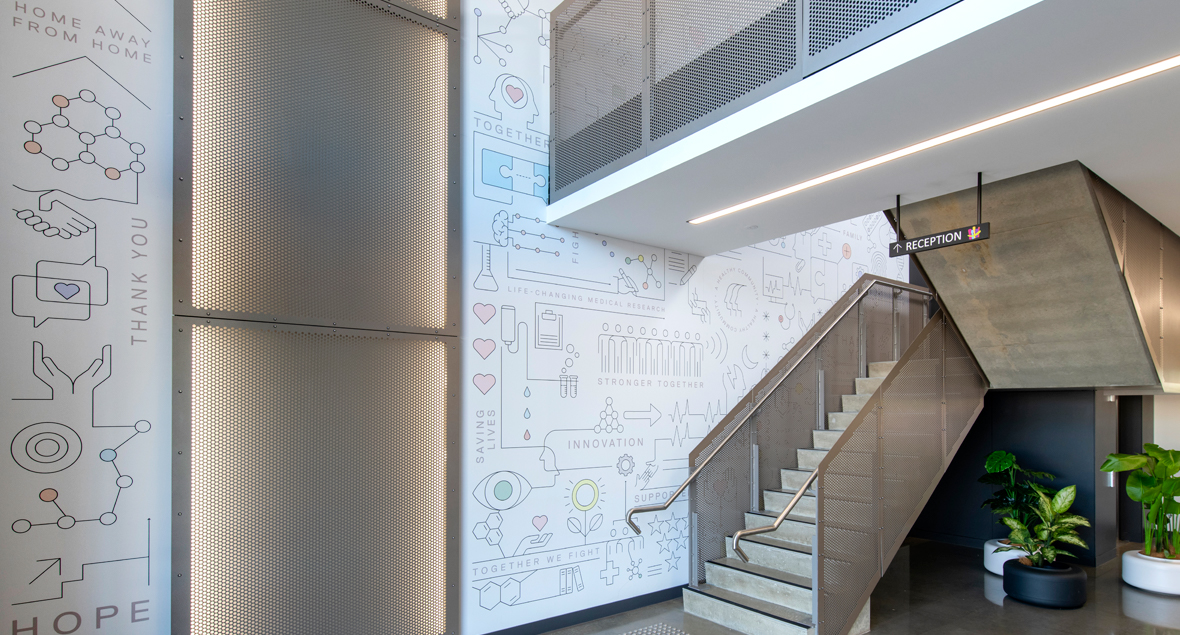Hospital Research Foundation, Wall Graphics, Black Squid Design